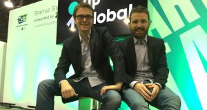 LogoGrab chief executive Luca Boschin and chief technical officer Alessandro Prest: making instant brand image recognition possible
