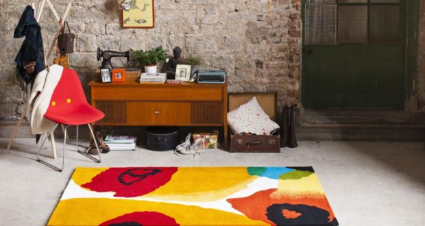 A Pop Of Colour With Muse Opal Print Rug From Ceadogán