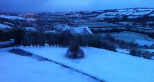 Fields of snow in Letterkenny, Co Donegal on Tuesday morning, January 13th. Photograph: Stephen Maguire.