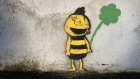 Dublin 6 is experiencing a bee invasion of sorts. Street art depicting a faceless bee, occasionally holding clover, can be seen on many walls in Rathmines and Portobello. We'd love to know what it's all about. Video: Bryan O'Brien