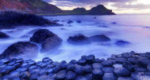 The Giant's Causeway: the luminosity of the Irish landscape provides the inspiration for the book's title. Photograph: Chris Hill / taken from Ireland – A Luminous Beauty by Peter Harbison and Leslie Conron Carola (Collins Press)