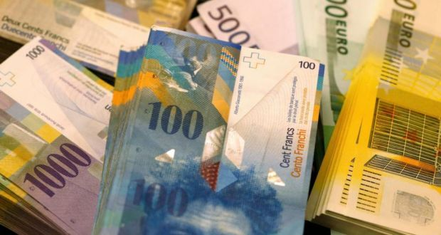 Swiss Franc Jumps Nearly 30 After Euro