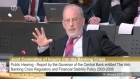 The Governor of the Central Bank Patrick Honohan has told the Oireachtas Banking Inquiry that he believes Anglo Irish Bank should have been allowed to fail.