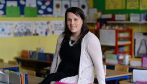 Deirdre Murphy, a teacher in Booterstown, Dublin: 'I always have a lunchbox on my desk with a mountain of snacks.' Photograph: Dara Mac Dónaill