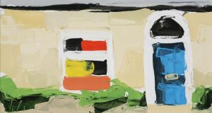 Detail from 'Suburban Villa' by Michael Morris (estimate €400-€600) at Dolan's auction, Rochestown Park Hotel, Cork