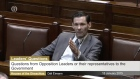 There were angry exchanges during Leader's Questions on Thursday after Jonathan O'Brien said his brother had been 'forced to go back into a hostel where drug-taking happens in front of him'.