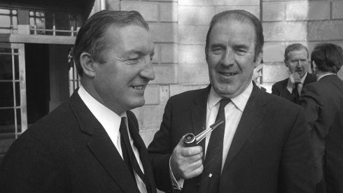 With the final episode of RTÉ'S political drama `Charlie' fast approaching, we had a look through the archives and dug up some old photos of the man and his colleagues in their heyday. Here, Charlie Haughey and Neil Blaney are pictured during the Arms Trial, October 1970. Photograph: The Irish Times