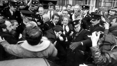 Charlie outside Leinster House. Photograph: The Irish Times
