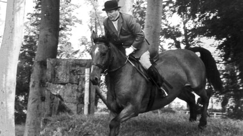 A spot of show jumping. Photograph: Colman Doyle /National Library of Ireland Collection