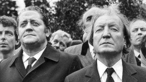 Brian Lenihan Snr stands with Mr Haughey in September 1982. Photograph: The Irish Times