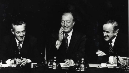 Des O'Malley, Charlie Haughey and Albert Reynolds. Photograph: The Irish Times