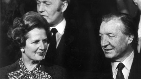 Charlie Haughey and Margaret Thatcher. Pic: Colman Doyle/National Library Collection