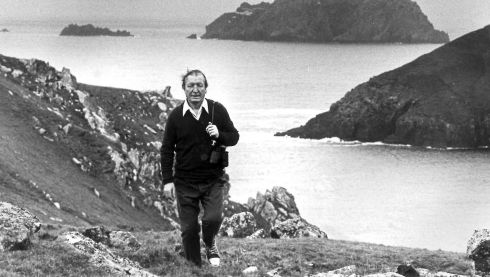Charlie pictured in Kerry, where he owned Inishvickillane, one of the Blasket Islands. Photograph: Colman Doyle/National Library of Ireland collection