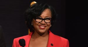 The head of the Oscars, Cheryl Boone Isaacs, has responded to controversy over the all-white acting list in this year's Oscar nominations, saying it inspires her to speed up the push for more diversity. Photograph:  Kevin Winter/Getty Images