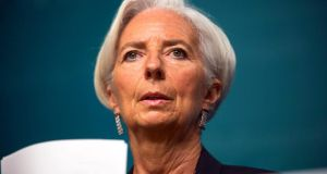 "IMF managing director Christine Lagarde: ""As a principle, collective endeavours are welcome but at the same time a debt is a debt and it is a contract.""  Photograph: EPA/Jim Lo Scalzo."