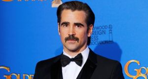 Colin Farrell backstage during the 72nd Golden Globe Awards in Beverly Hills, California January 11th, 2015. Photograph: Reuters/Mike Blake