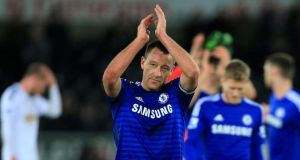 Chelsea's John Terry says current crop must win trophies. Photograph:  Nick Potts/PA Wire