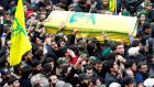 Hizbullah supporters  carry the coffin of Jihad  Mughniyeh, son of late Hizbullah leader Imad Mughniyeh in a suburb of Beirut on Monday. Photograph: Nabil Mounzer/EPA
