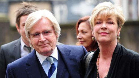 File photo dated 25/02/10 of  Coronation Street actors William Roache, who played Ken Barlow, with Anne Kirkbride, who played Deirdre Barlow. She has died after a short illness, her husband David Beckett said. Photograph: Anna Gowthorpe/PA Wire