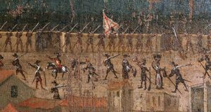 A detail of the defence of Barcelona's city walls in 2014.  Photograph: PHAS/UIG via Getty Images