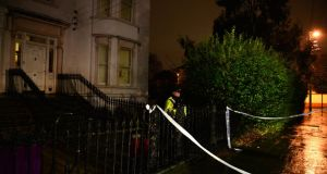 The house in Clarinda Park East, Dún Laoghaire, Co Dublin, where a woman died following the fatal assault. Photographer: Dara MacDónaill/The Irish Times