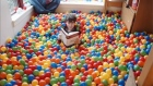 A Rice University student says he was inspired to turn his dorm room into a ball pit after reading comics in which a main character carried out a similar room overhaul. Video: Rice University/Reuters