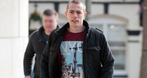 Sean Hulgrain  (23) of Thornfield Square, Clondalkin who broke an off-duty garda's nose at a Swedish House Mafia concert at the Phoenix Park. Photograph: Collins Courts.