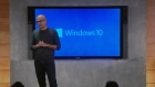 Microsoft announce they are to give away Windows 10 as a free upgrade to Windows 8 users and have also unveiled hologram glasses. Video: Microsoft/Reuters