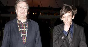 Stephen Fry (57) and the man he recently married, Elliott Spencer (27). Photographs: Niki Nikolova/Filmmagic