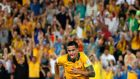 Australia's Tim Cahill celebrates his goal during their Asian Cup quarter-final soccer match against China at the Brisbane Stadium in Brisbane. Photograph: Edgar Su/Reuters