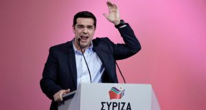 Alexis Tsipras: 'We want to bring Greece to the level of a proper, democratic European country.' Photograph: Konstantinos Tsakalidis/Bloomberg