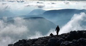 Above the clouds near  the summit of Carrauntoohil, MacGillicuddy's Reeks, Co Kerry. Photograph: Mick Crowley