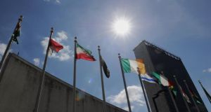 Ireland is taking centre stage at United Nations talks in New York that will determine the future course of global development. Photograph: Stan Honda/AFP/Getty Images.