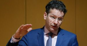 Eurogroup president Jeroen Dijsselbloem: said that while there was 'room to manoeuvre' with Greece, any new left-wing government must honour existing agreements with the EU-IMF. Photograph: Kiyoshi Ota/Bloomberg