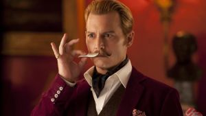 Heart-sinkingly effete: Johnny Depp as Lord Charlie Mortdecai