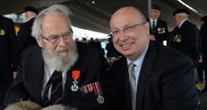 "Michael d'Alton from Dalkey, Co Dublin, said he accepted the award on the ""clear understanding"" that it was not for him alone but for the ""10s of thousands of Allied servicemen who served on D-Day"". Photograph: Eric Luke"