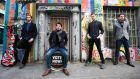 Malachy Tuohy, Gar Byrne, JPR and Gerard McGarry from Riptide Movement , one of the bands shortlisted for Meteor Choice song of the year