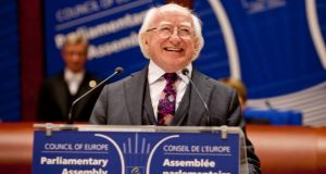 President Michael D Higgins at the Council of Europe in Strasbourg on Tuesday where  he delivered his address 'The Future of Parliaments: Addressing the Challenges'. Photograph:  Chris Bellew/Fennell Photography.