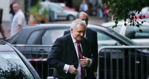 Bertie Ahern arriving at the Mahon Tribunal in Dublin Castle on September 20th, 2007. Photograph: Kate Geraghty