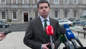 Minister for Transport Paschal Donohoe: he emphasised that the Government's decision would be based on wider considerations than the price. Photograph: Gareth Chaney Collins