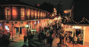 Bourbon Street, New Orleans. Brian Hanrahan and his father had been on a 10-day road trip  along  Route 66 across the US when they stopped over in New Orleans.
