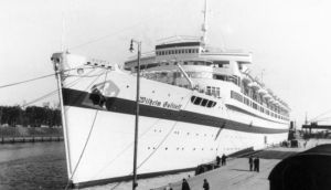 The 'Wilhelm Gustloff' had 10,000 refugees on board when it was torpedoed