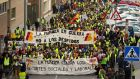 Looking up: things have improved since Iberia workers protested in Madrid in 2013. photograph: denis doyle/getty images