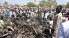 Bombing: burnt bikes outside the central mosque in Kano in November, after two suicide blasts. Photograph: Aminu Abubakar/AFP