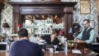 Karri Cormican mixes a cocktail at the Comstock Saloon in San Francisco. Photograph: Matthew Ryan Williams/The New York Times