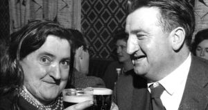 Margaret Barry and Brendan Behan in 1961. Photograph: Gordon Standing