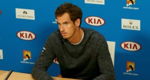 Andy Murray  speaks at a press conference at the 2015 Australian Open. After winning his semi-final match Murray spoke out against those who had criticised his decision to hire Amélie Mauresmo as a coach.   Photograph: Clive Brunskill/Getty Images