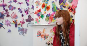Soirse McDonagh (6), at the new West Cork Arts Centre. The centre  officially opened to the public this weekend, with the unveiling of Fourth Space, its inaugural exhibit. Photograph: Emma Jervis Photography