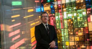 President of St Patrick's College Drumcondra Daire Keogh in the new library: 'The beauty of the library is that it will engage with the city; the college was behind the wall for a long time.'  Photograph: Brenda Fitzsimons