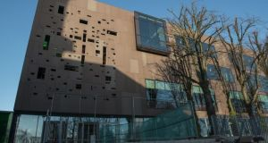 An outside view of the new library. Photograph: Brenda Fitzsimons / The Irish Times